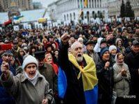 Киевляне перекрыли шоссе в Киеве из-за отключения электроэнергии