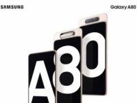 Смартфон Samsung Galaxy A80 получил поворотную тройную камеру