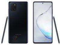 Бюджетный флагман Galaxy Note10 Lite показали на рендере